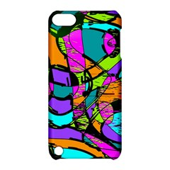 Abstract Sketch Art Squiggly Loops Multicolored Apple Ipod Touch 5 Hardshell Case With Stand by EDDArt