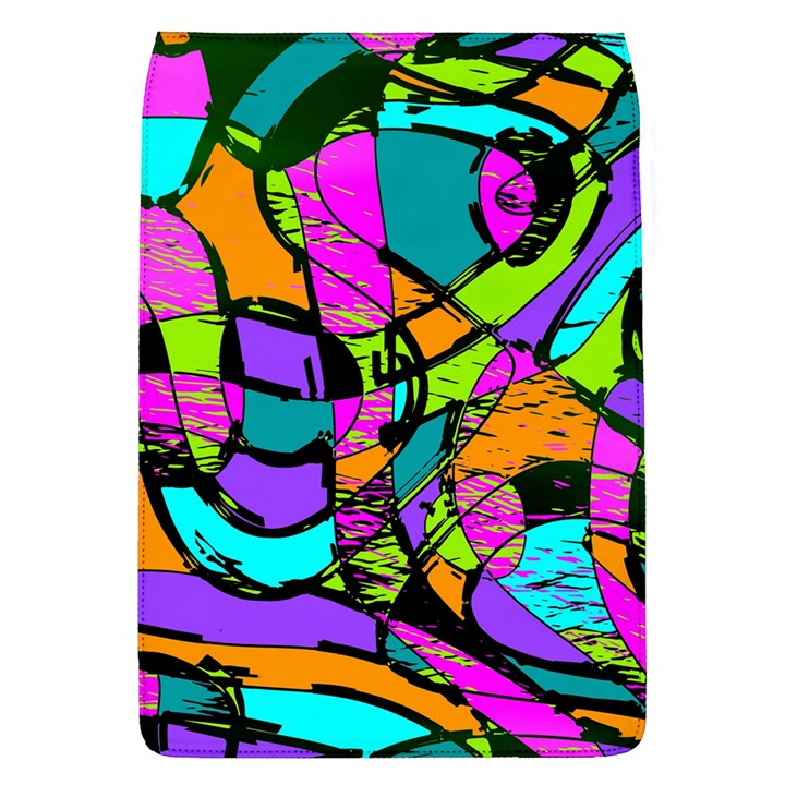 Abstract Sketch Art Squiggly Loops Multicolored Flap Covers (L)