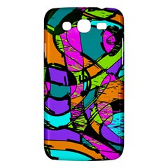 Abstract Sketch Art Squiggly Loops Multicolored Samsung Galaxy Mega 5 8 I9152 Hardshell Case  by EDDArt