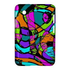 Abstract Sketch Art Squiggly Loops Multicolored Samsung Galaxy Tab 2 (7 ) P3100 Hardshell Case  by EDDArt