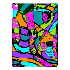 Abstract Sketch Art Squiggly Loops Multicolored Ipad Air Hardshell Cases by EDDArt