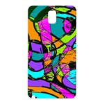 Abstract Sketch Art Squiggly Loops Multicolored Samsung Galaxy Note 3 N9005 Hardshell Back Case Front