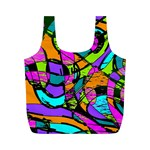Abstract Sketch Art Squiggly Loops Multicolored Full Print Recycle Bags (M)  Front