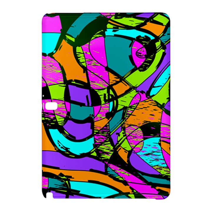 Abstract Sketch Art Squiggly Loops Multicolored Samsung Galaxy Tab Pro 10.1 Hardshell Case