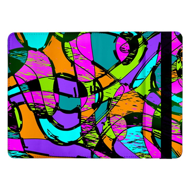 Abstract Sketch Art Squiggly Loops Multicolored Samsung Galaxy Tab Pro 12.2  Flip Case