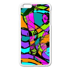 Abstract Sketch Art Squiggly Loops Multicolored Apple Iphone 6 Plus/6s Plus Enamel White Case by EDDArt