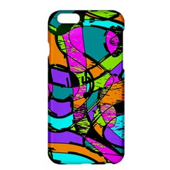 Abstract Sketch Art Squiggly Loops Multicolored Apple Iphone 6 Plus/6s Plus Hardshell Case