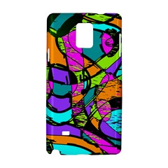 Abstract Sketch Art Squiggly Loops Multicolored Samsung Galaxy Note 4 Hardshell Case by EDDArt