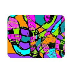 Abstract Sketch Art Squiggly Loops Multicolored Double Sided Flano Blanket (mini)  by EDDArt