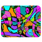 Abstract Sketch Art Squiggly Loops Multicolored Double Sided Flano Blanket (Medium)  60 x50 Blanket Back