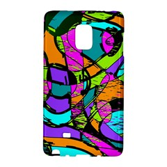 Abstract Sketch Art Squiggly Loops Multicolored Galaxy Note Edge by EDDArt