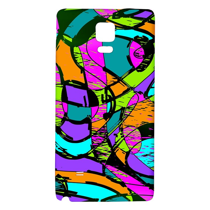 Abstract Sketch Art Squiggly Loops Multicolored Galaxy Note 4 Back Case