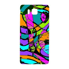 Abstract Sketch Art Squiggly Loops Multicolored Samsung Galaxy Alpha Hardshell Back Case by EDDArt