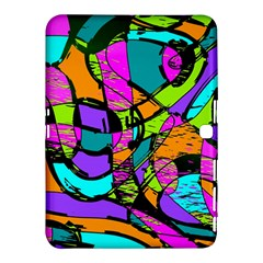 Abstract Sketch Art Squiggly Loops Multicolored Samsung Galaxy Tab 4 (10 1 ) Hardshell Case  by EDDArt