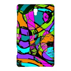 Abstract Sketch Art Squiggly Loops Multicolored Samsung Galaxy Tab S (8 4 ) Hardshell Case