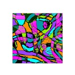 Abstract Sketch Art Squiggly Loops Multicolored Satin Bandana Scarf Front