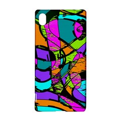 Abstract Sketch Art Squiggly Loops Multicolored Sony Xperia Z3+ by EDDArt