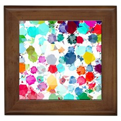 Colorful Diamonds Dream Framed Tiles by DanaeStudio