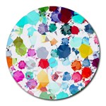 Colorful Diamonds Dream Round Mousepads