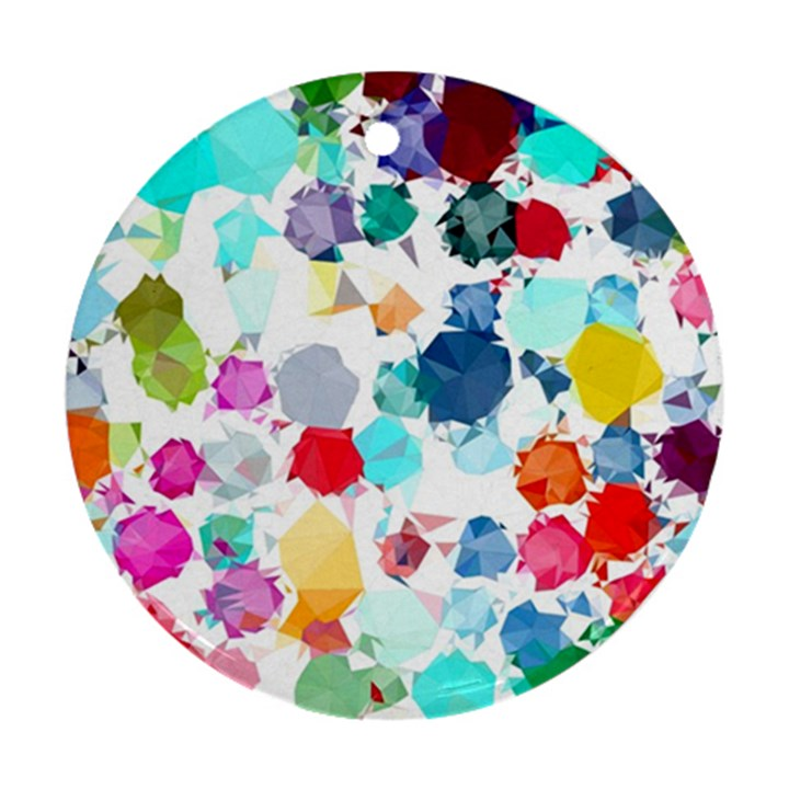 Colorful Diamonds Dream Ornament (Round)