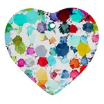 Colorful Diamonds Dream Ornament (Heart)  Front