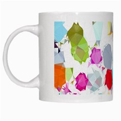 Colorful Diamonds Dream White Mugs by DanaeStudio