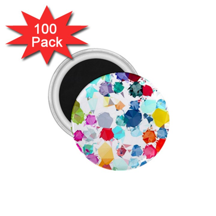 Colorful Diamonds Dream 1.75  Magnets (100 pack)