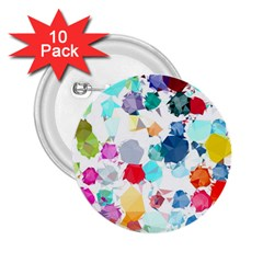 Colorful Diamonds Dream 2 25  Buttons (10 Pack)  by DanaeStudio