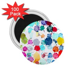 Colorful Diamonds Dream 2 25  Magnets (100 Pack)  by DanaeStudio