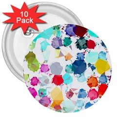Colorful Diamonds Dream 3  Buttons (10 Pack)  by DanaeStudio