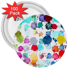 Colorful Diamonds Dream 3  Buttons (100 Pack)  by DanaeStudio