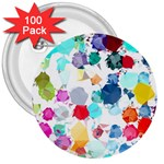 Colorful Diamonds Dream 3  Buttons (100 pack)