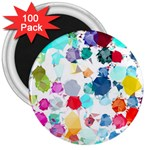Colorful Diamonds Dream 3  Magnets (100 pack)