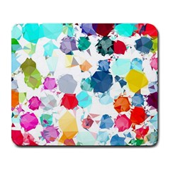 Colorful Diamonds Dream Large Mousepads by DanaeStudio