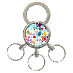 Colorful Diamonds Dream 3 Ring Key Chains by DanaeStudio