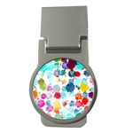 Colorful Diamonds Dream Money Clips (Round)  Front