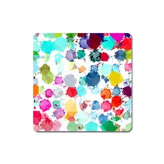 Colorful Diamonds Dream Square Magnet by DanaeStudio