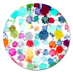 Colorful Diamonds Dream Magnet 5  (Round) Front