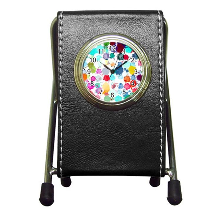 Colorful Diamonds Dream Pen Holder Desk Clocks