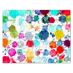Colorful Diamonds Dream Rectangular Jigsaw Puzzl by DanaeStudio