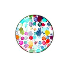 Colorful Diamonds Dream Hat Clip Ball Marker by DanaeStudio