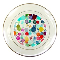 Colorful Diamonds Dream Porcelain Plates