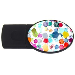 Colorful Diamonds Dream Usb Flash Drive Oval (4 Gb)  by DanaeStudio