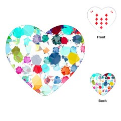 Colorful Diamonds Dream Playing Cards (heart)  by DanaeStudio