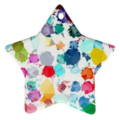 Colorful Diamonds Dream Star Ornament (two Sides)  by DanaeStudio