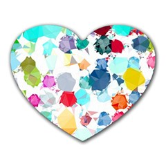 Colorful Diamonds Dream Heart Mousepads by DanaeStudio