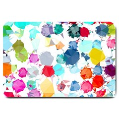 Colorful Diamonds Dream Large Doormat  by DanaeStudio