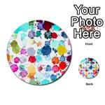 Colorful Diamonds Dream Multi-purpose Cards (Round)  Back 11