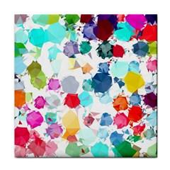 Colorful Diamonds Dream Face Towel