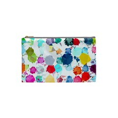 Colorful Diamonds Dream Cosmetic Bag (small)  by DanaeStudio